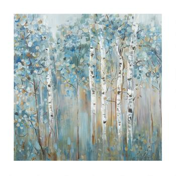 "30"" Blue Birches Canvas Wall Art"