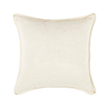 Beaded Gold Monogram Square Throw Pillow view 2