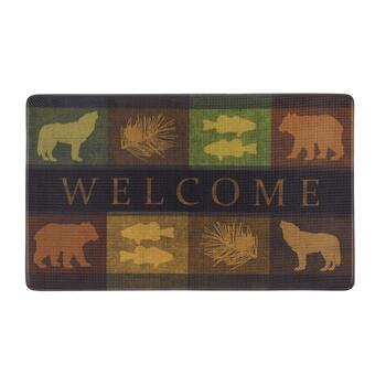 "18""x30"" ""Welcome"" Wolves and Bears Door Mat"