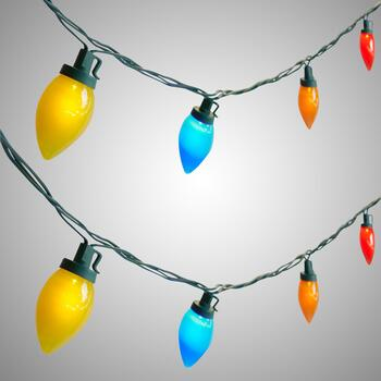 17' Multicolor LED C9 String Lights, Set of 2