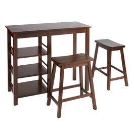 Walnut Saddle Stool Gathering Set, 3-Piece