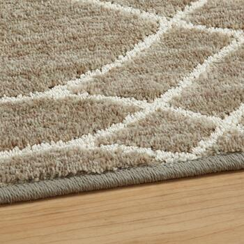 5'x7' Beige/Cream Wave Area Rug view 2