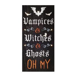 "10""x20"" ""Vampires & Witches & Ghosts"" LED Wall Decor"