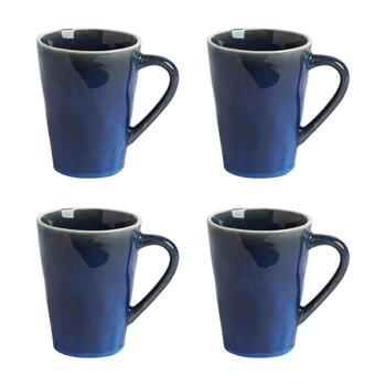 The Grainhouse™ 14-oz. Reactive Glaze Mugs, Set of 4