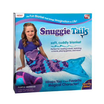 As Seen on TV Sparkly Purple Mermaid Snuggie Tails® view 1