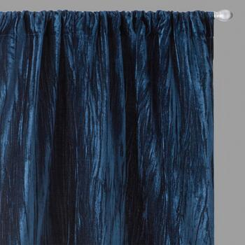 Perfect Window Crushed Velvet Window Curtains, Set of 2