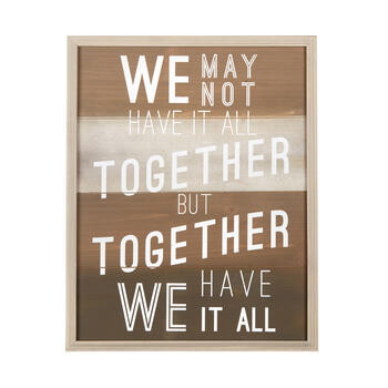 "16""x20"" ""We Have It All"" Wood Pallet Framed Wall Decor view 1"