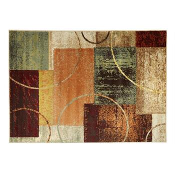 5'x7' Multi Blocks Olefin Area Rug