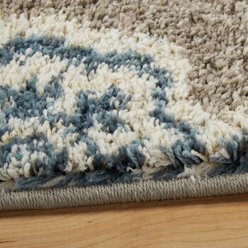 Gray/Blue Medallion Area Rug view 2