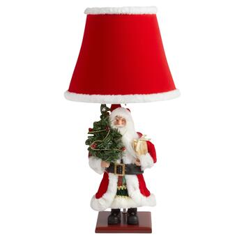 "23"" Santa Claus with Tree Table Lamp"