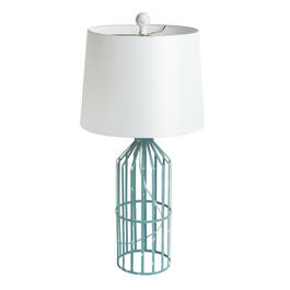 "27"" Weathered Metal Cage Coastal Table Lamp view 1"