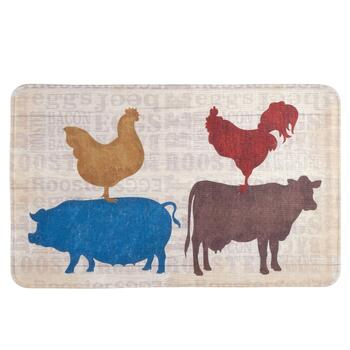 """18x30"" Farm Animals Cushioned Floor Mat"