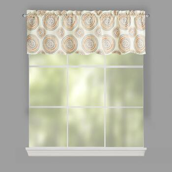 Medallion Print Window Valances, Set of 2