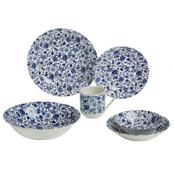 Blue and White Floral Dinnerware