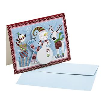 Snowman with Friends Handmade Cards, 18-Count