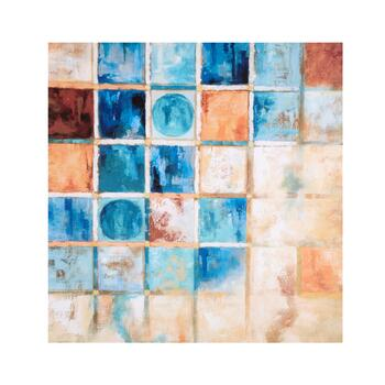 "30"" Abstract Squares Canvas Wall Art"
