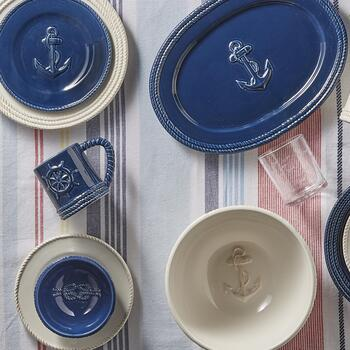 Coastal Living Seascapes™ Embossed Ceramic Dinnerware