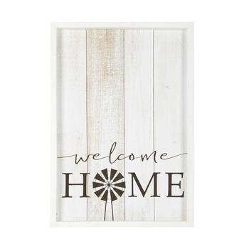 "The Grainhouse™ 19""x27"" ""Welcome Home"" Framed Wall Decor"