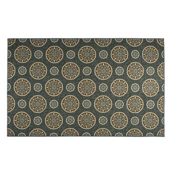 5'x8' Mohawk Home Blue/Brown Medallion Area Rug