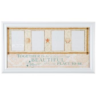 """Together Is a Beautiful Place to Be"" 4-Opening Photo Frame Wall Collage"