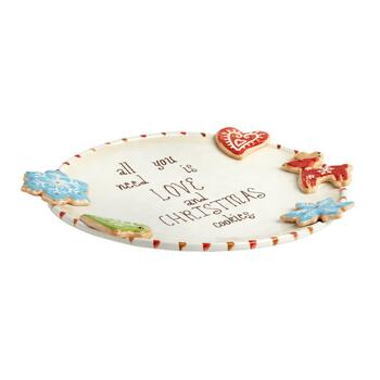 """All You Need is Love and Christmas Cookies"" Plate view 2"