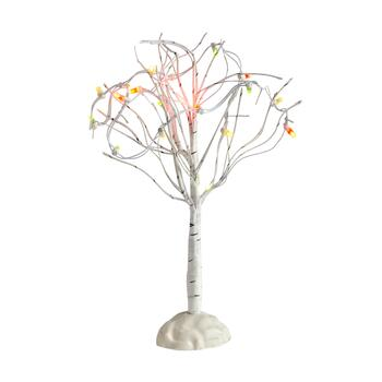 "8.75"" White LED Birch Trees, Set of 2"