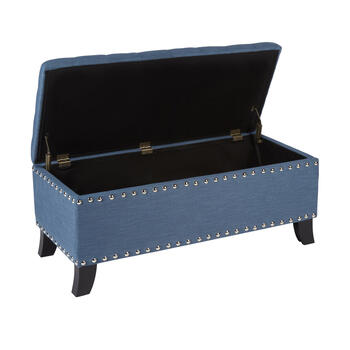 Kent Tufted Storage Ottoman with Nailhead Accents view 2