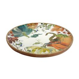 "16"" Pumpkin Patch Wood Serving Platter"