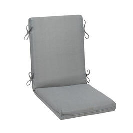 Solid Gray Woven Indoor/Outdoor Hinged Chair Pad view 1