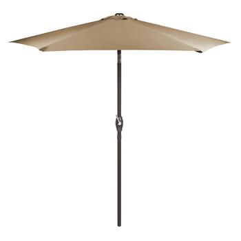 7.5' Taupe Crank/Tilt Market Patio Umbrella