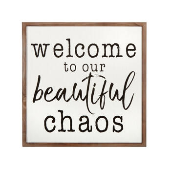 "18"" ""Our Beautiful Chaos"" Square Wood Framed Canvas Wall Decor view 1"