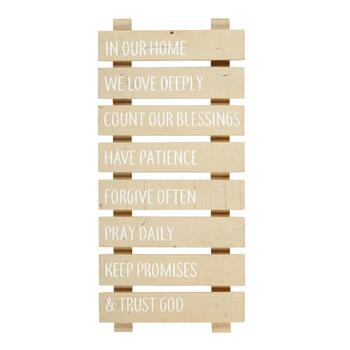 "12""x26"" ""In Our Home We Love Deeply"" White Wood Ladder Wall Decor"