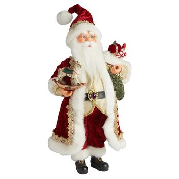 "16"" Santa with Rocking Horse Figure"