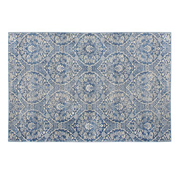The Grainhouse™ Blue Damask Area Rug view 1