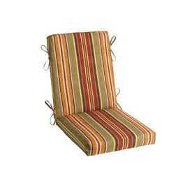 Red/Orange Stripe Indoor/Outdoor Hinged Chair Pad