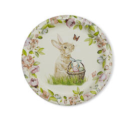 "Floral Bunny 7"" Paper Plates, 12-Count view 1"