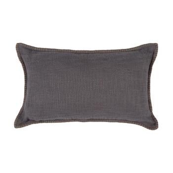 The Grainhouse™ Gray Stitched Oblong Throw Pillow