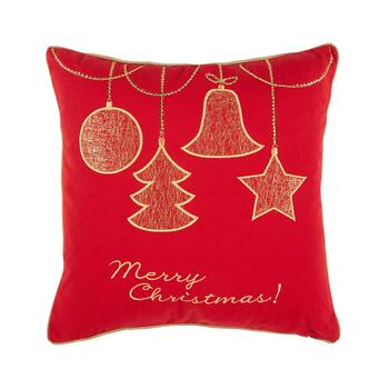 "17"" ""Merry Christmas"" Feather-Fill Throw Pillow"