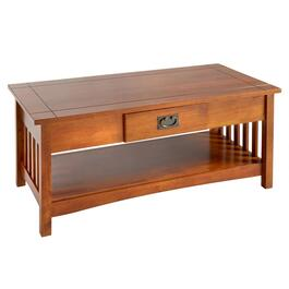 Mission Style Coffee Table With Drawer