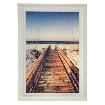 "30""x42"" Bridge to the Sea Framed Wall Art"