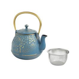 The Grainhouse™ Floral Embossed Teapot with Infuser