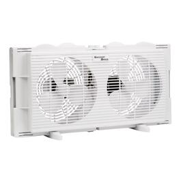 Twin White Window Fan