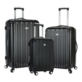 Black Hard Shell Luggage Set, 3-Piece view 1