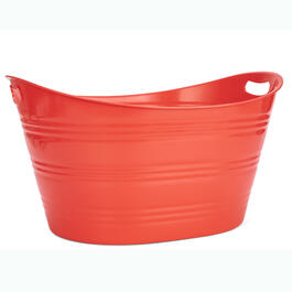 Red Plastic Oval Party Tub view 1