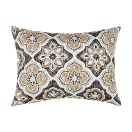 Brown/Black Medallion Oblong Throw Pillow view 1
