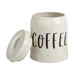 """Coffee"" Ceramic Canister with Lid"