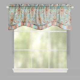 Traditions by Waverly® Opal Floral Rod Pocket Window Valances, Set of 2