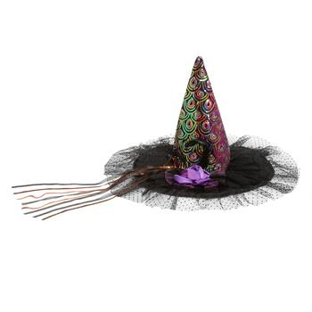 Multi-Colored Embellished Witch's Hat
