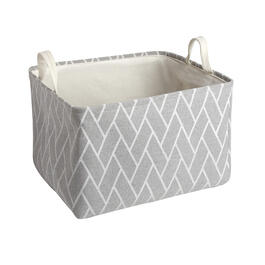 The Grainhouse™ Gray Geo Fabric Storage Bin view 1