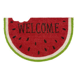 """Welcome"" Watermelon Slice Coir Door Mat view 1"